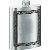 Visol Kalos Greek Design Pewter Liquor Flask - 8 ounces