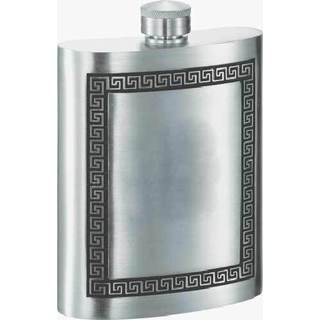 Visol Kalos Greek Design Pewter Liquor Flask - 8 ounces
