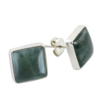 Handcrafted Sterling Silver 'Life Divine' Jade Earrings (Guatemala)