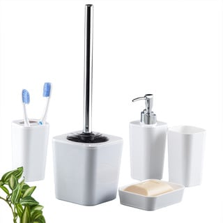 6-piece Bathroom Accessory Set - White
