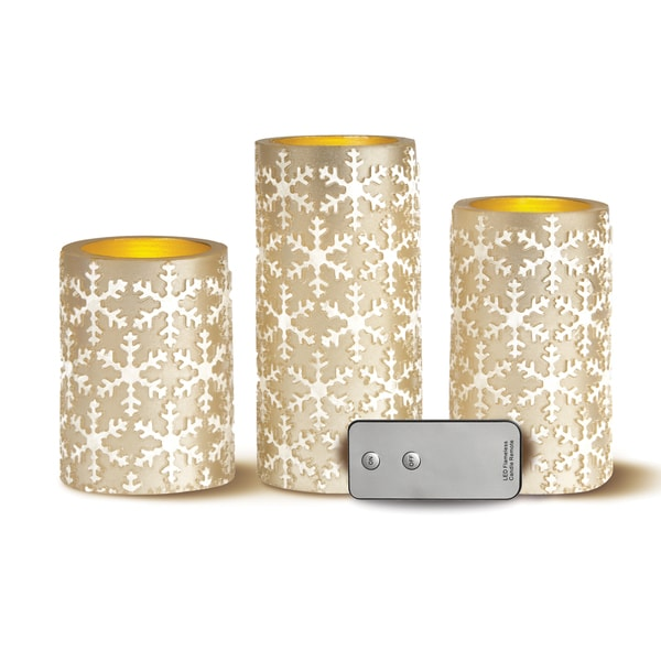 Shop Apothecary Amp Company 3 Piece Led Candle Set With