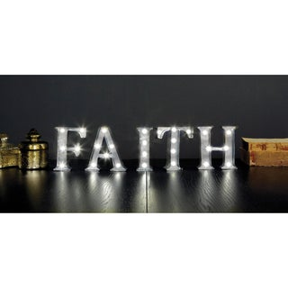 Apothecary & Company 4.5 inch Metal LED FAITH Marquee Sign