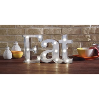Apothecary & Company 9 inch Metal LED EAT Marquee Sign