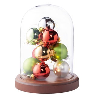 Order Home Collection Glass Cloche with LED Ornaments