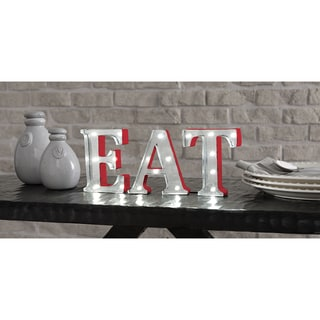 Apothecary & Company 4.5 inch Metal LED EAT Marquee Sign