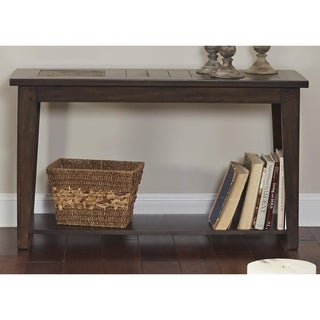 Hearthstone Dark Oak and Slate Sofa Table