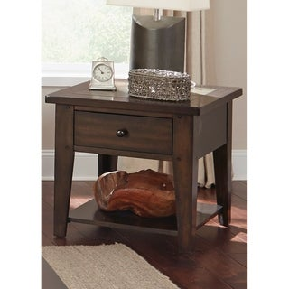 Hearthstone Dark Oak and Slate End Table