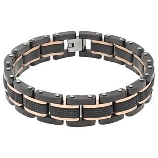 Stainless Steel Men's Textured Bracelet