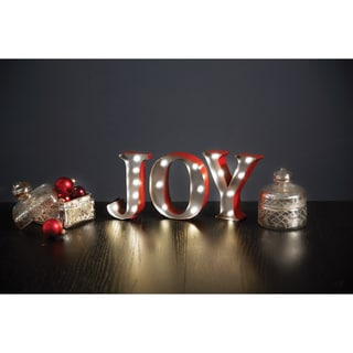 Apothecary & Company 4.5 inch Metal LED Marquee JOY Sign