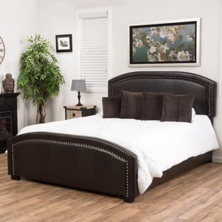 Christopher Knight Home Conor Upholstered Bonded Leather Bed Set|https://ak1.ostkcdn.com/images/products/10591225/P17665262.jpg?impolicy=medium
