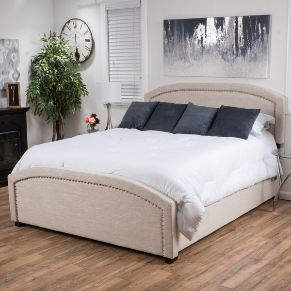 Christopher Knight Home Conor Upholstered Fabric Bed
