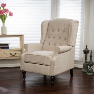 Walter Fabric Recliner Club Chair by Christopher Knight Home Living Room Chairs For Less  Overstock com