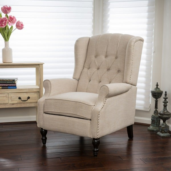 Bon Christopher Knight Home Walter Light Beige Fabric Recliner Club Chair