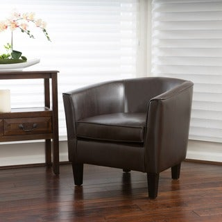 Aiden Bonded Leather Club Chair by Christopher Knight Home