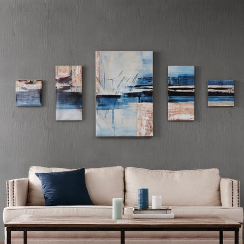 Madison Park Overseas Printed Canvas with Gel Coat (Set of 5)