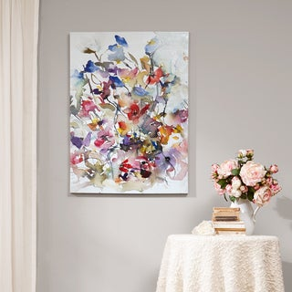 Madison Park Vibrant Garden Printed Canvas with Gel Coat