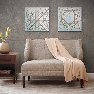 Madison Park Arctic Geometric Printed Canvas with Gold Foil Embellishment (Set of 2)