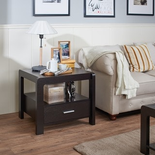 Furniture of America Myria Modern Cappuccino 1-Drawer End Table