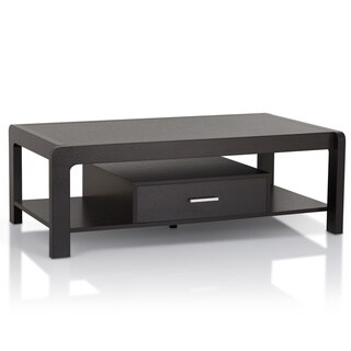 Furniture of America Myria Modern Cappuccino 1-Drawer Coffee Table