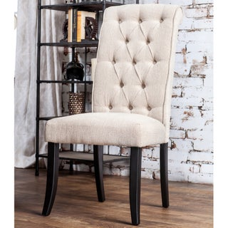Gracewood Hollow Nimmo Button-tufted Flax Dining Chairs (Set of 2) (Option: Ivory)