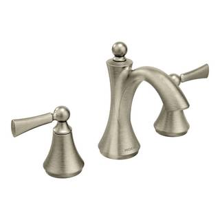 Moen Wynford Mini Widespread Brushed Nickel Bathroom Faucet|https://ak1.ostkcdn.com/images/products/10591394/P17665374.jpg?impolicy=medium