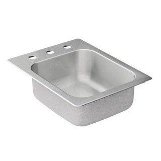 Moen 17-inch x 22-inch Stainless Steel 20 Gauge Single Bowl Drop in Sink