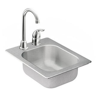 Moen 13-inch x 17-inch Stainless Steel 20 Gauge Single Bowl Drop in Sink
