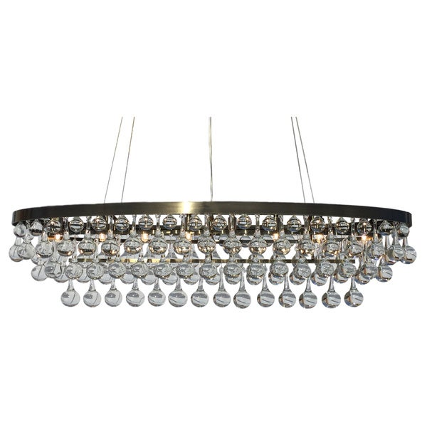 Shop Celeste Rectangular Oval Glass Drop Crystal Chandelier Antique - Chandelier drop crystals