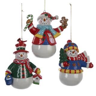 Kurt Adler 3.5 Inch Porcelain Snowman Ornament Set of 3|https://ak1.ostkcdn.com/images/products/10591464/P17665458.jpg?impolicy=medium