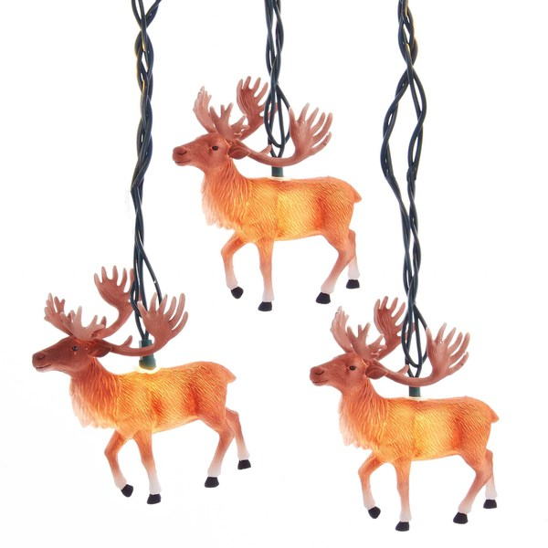 Shop Kurt Adler Ul 10 Light Reindeer With Antlers Light