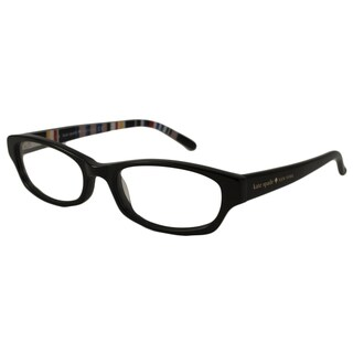 Kate Spade Women's Twyla Rectangular Black Optical Frames