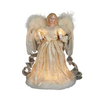 Kurt Adler 12-Inch 10-Light Ivory Angel Treetop