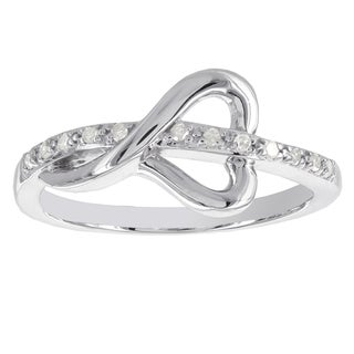H Star Sterling Silver 1/10ct TDW Diamond Heart Ring (I-J, I2-I3)