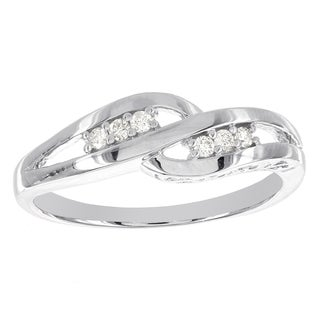H Star Sterling Silver 1/10ct TDW Diamond Promise Ring (I-J, I2-I3)