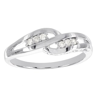 H Star Sterling Silver 1/10ct TDW Diamond Ring (I-J, I2-I3)