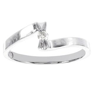 H Star Sterling Silver Diamond Promise Ring (I-J, I2-I3)