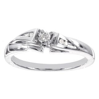 H Star Sterling Silver Diamond Accent Promise Ring (I-J, I2-I3)