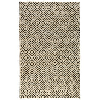 Kali Beige and Black Jute Rug (2' x 3')