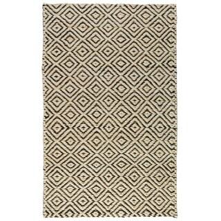 Kosas Home Handwoven Kali Jute Black and Bleached Rug (2' x 3')