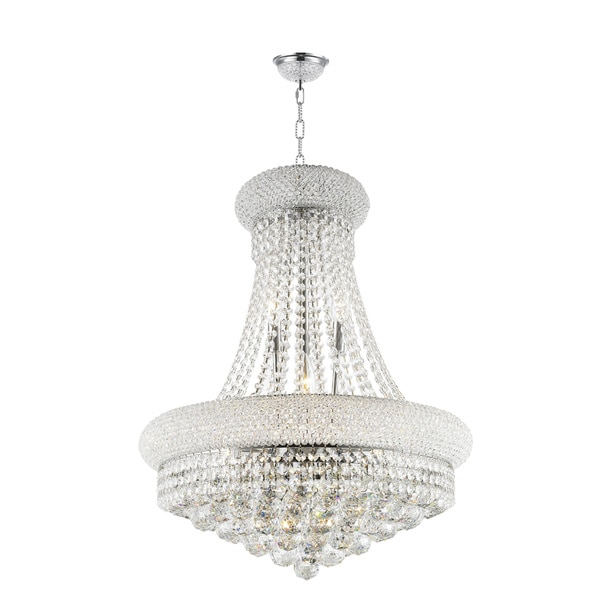 French Empire Collection 14 Light Chrome Finish With Clear Crystal