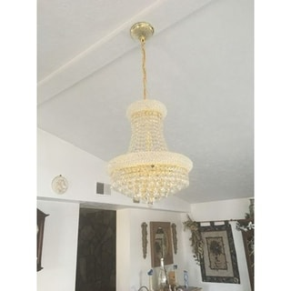 """French Empire Collection 8 Light Gold Finish and Clear Crystal Chandelier 16"""" x 20"""