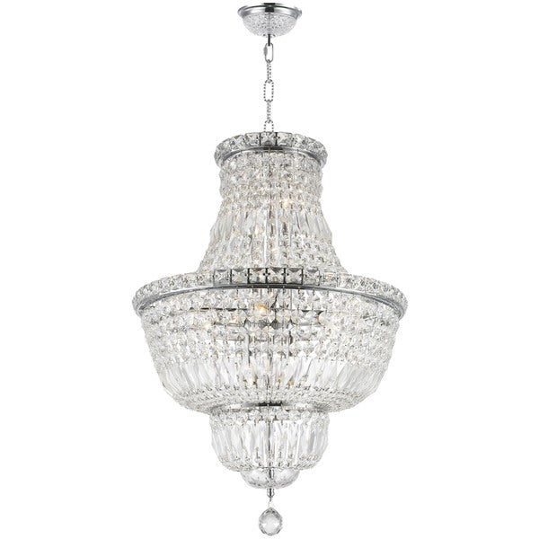 French Empire Collection 12 Light Chrome Finish and Clear Crystal ...