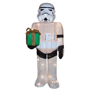 """Kurt Adler 28"""" Star Wars Stormtrooper Light-Up Tinsel Lawn Décor"""