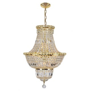 """Link to French Empire Collection 12 light Gold Finish and Clear Crystal Chandelier 18"""" x 27"""" Similar Items in Chandeliers"""