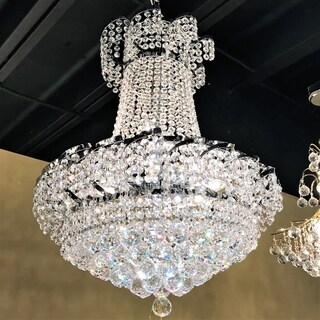 """French Empire Collection 11 light Chrome Finish with Clear Crystal Chandelier 22"""" x 26"""""""