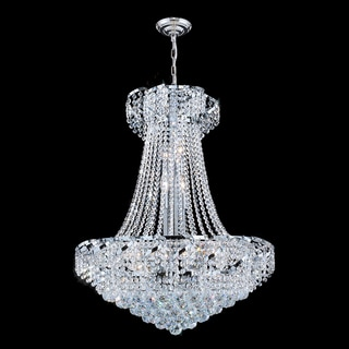 "French Empire Collection 15 Light Chrome Finish and Clear Crystal Chandelier 26"" x 32"""