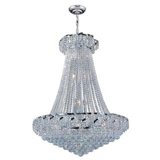 "French Empire Collection 18 Light Chrome Finish and Clear Crystal Chandelier 30"" x 38"""