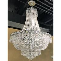French Empire 12 Light Chrome Finish Clear Crystal Chandelier