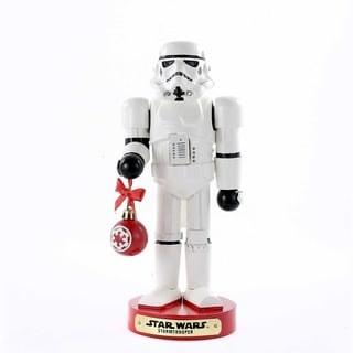 Kurt Adler 12-Inch Stormtrooper with Ball Ornament Nutcracker