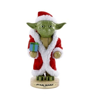 Kurt Adler 9-Inch Yoda in Santa Robe Nutcracker
